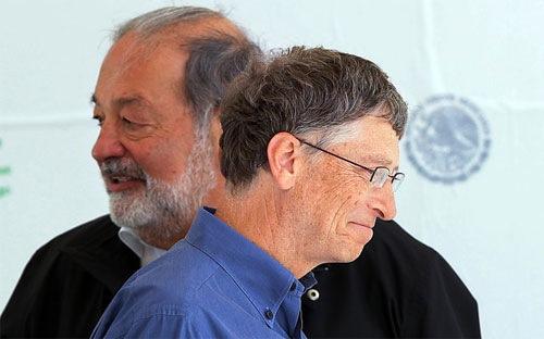 Bill Gates ngày càng giàu hơn Carlos Slim